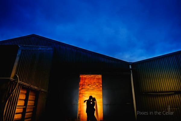 Alrewas hayes wedding photography silhouette