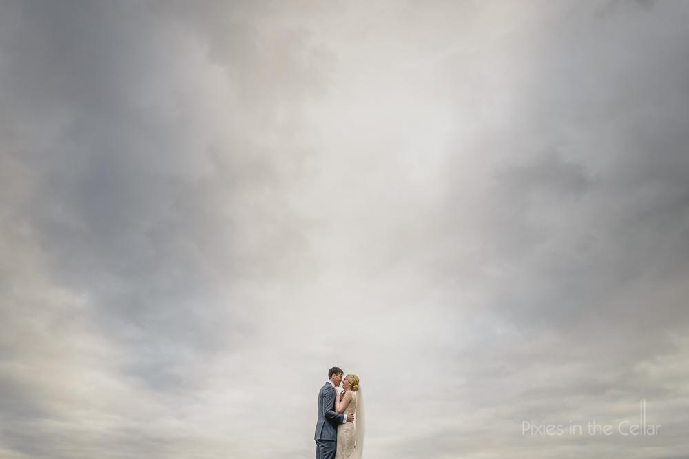 bride groom big sky