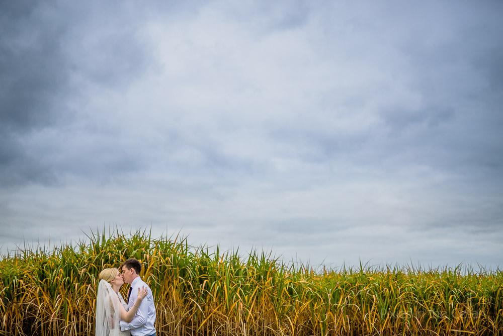 autumn crop bride groom kissing