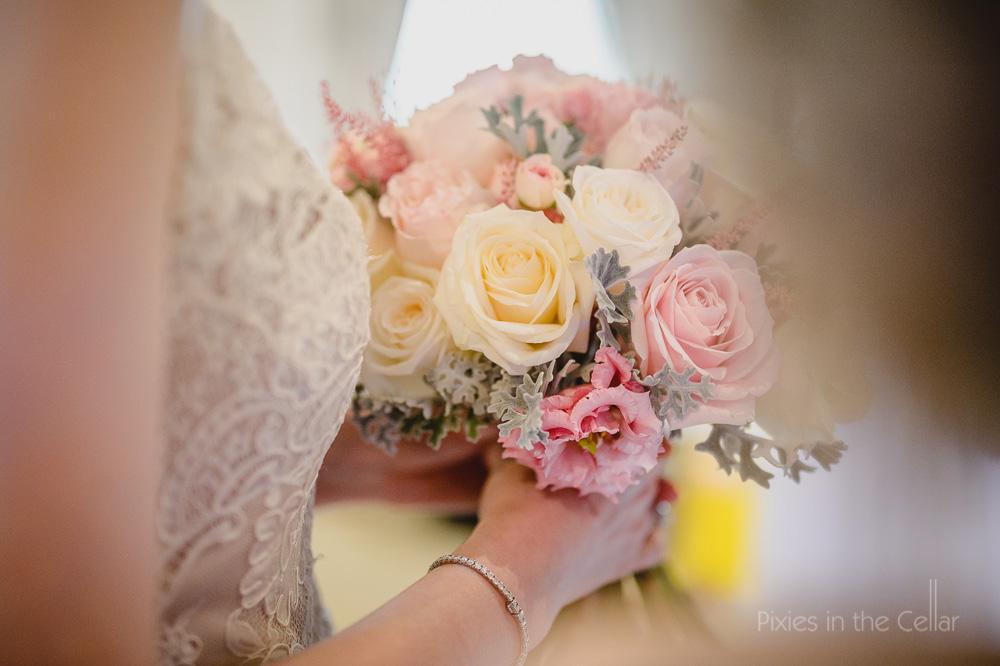bridal bouquet pinks whites Nadia Di tullio