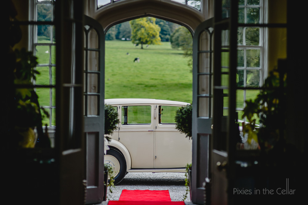 leighton hall wedding car