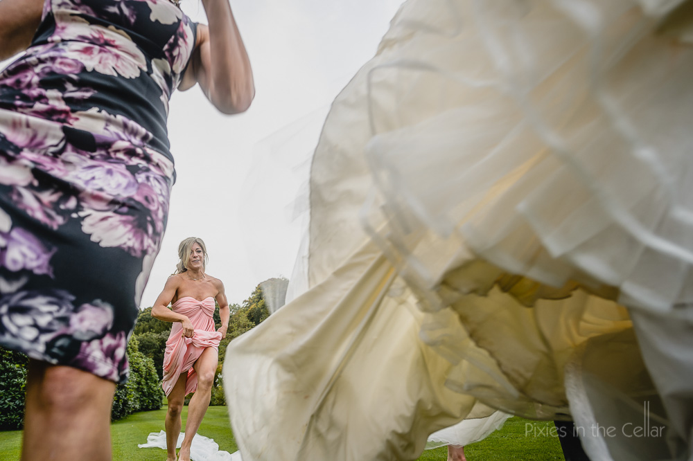 running bridesmaid