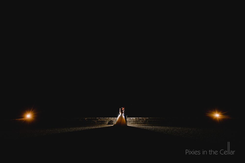 Lancaster wedding photography night time