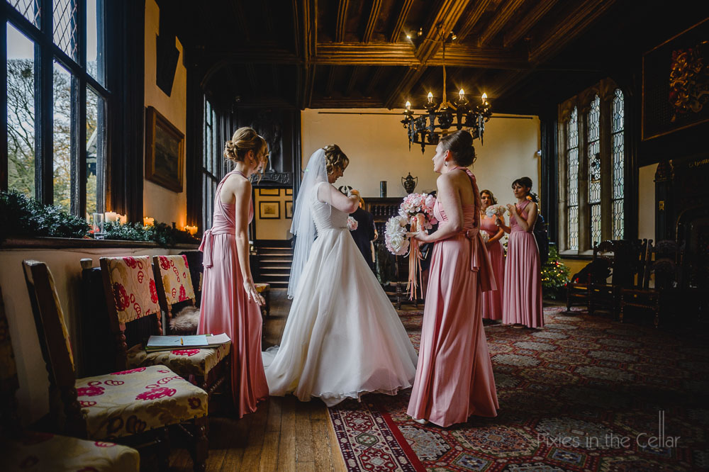 Samlesbury hall before wedding ceremony