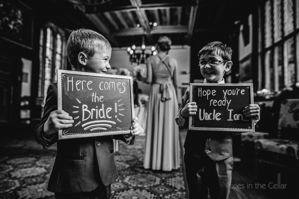 children chalkboard wedding signs
