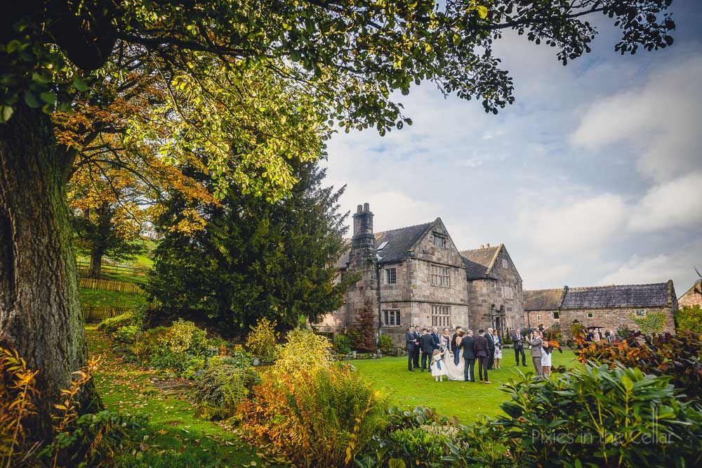 Autumn wedding photography staffordshire