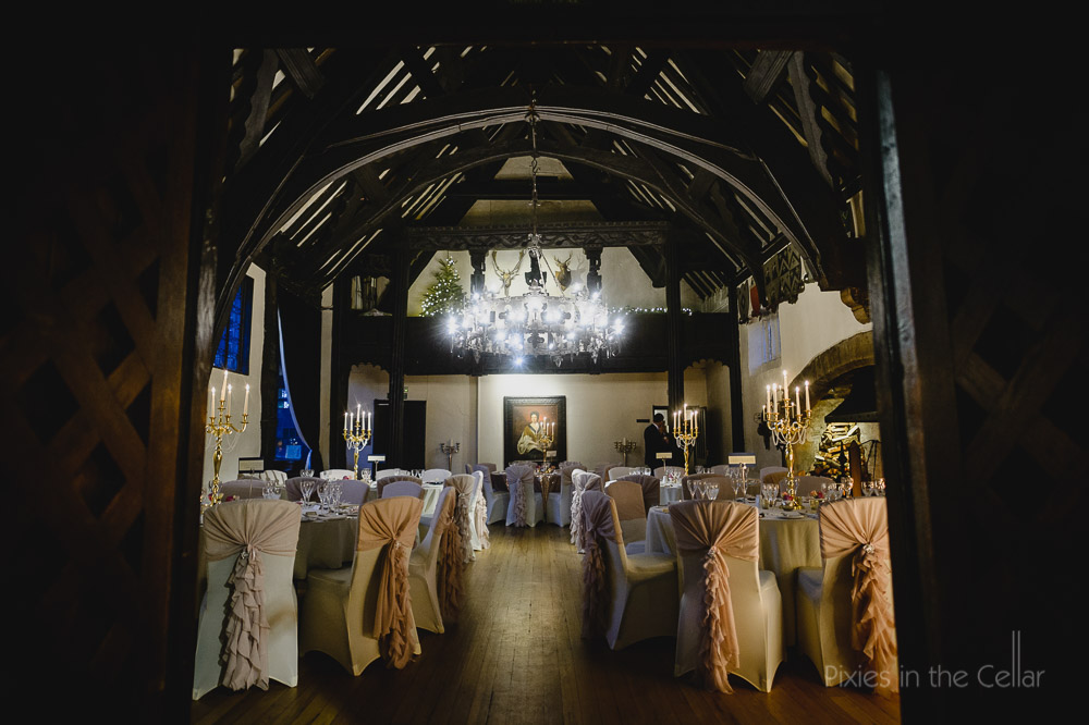 Samlesbury Hall wedding breakfast room