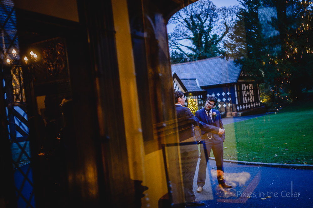 winter wedding Samlesbury hall