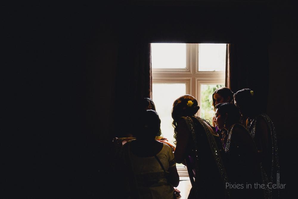 bridesmaids in sarees