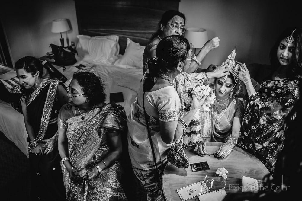asian wedding getting ready