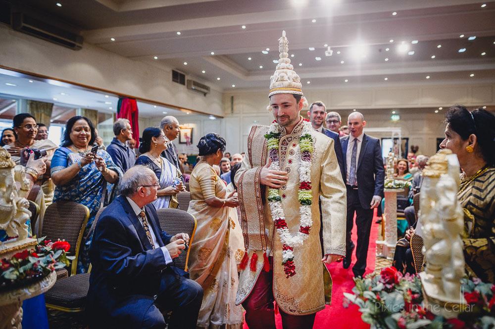 arrival of groom bengali wedding lancashire