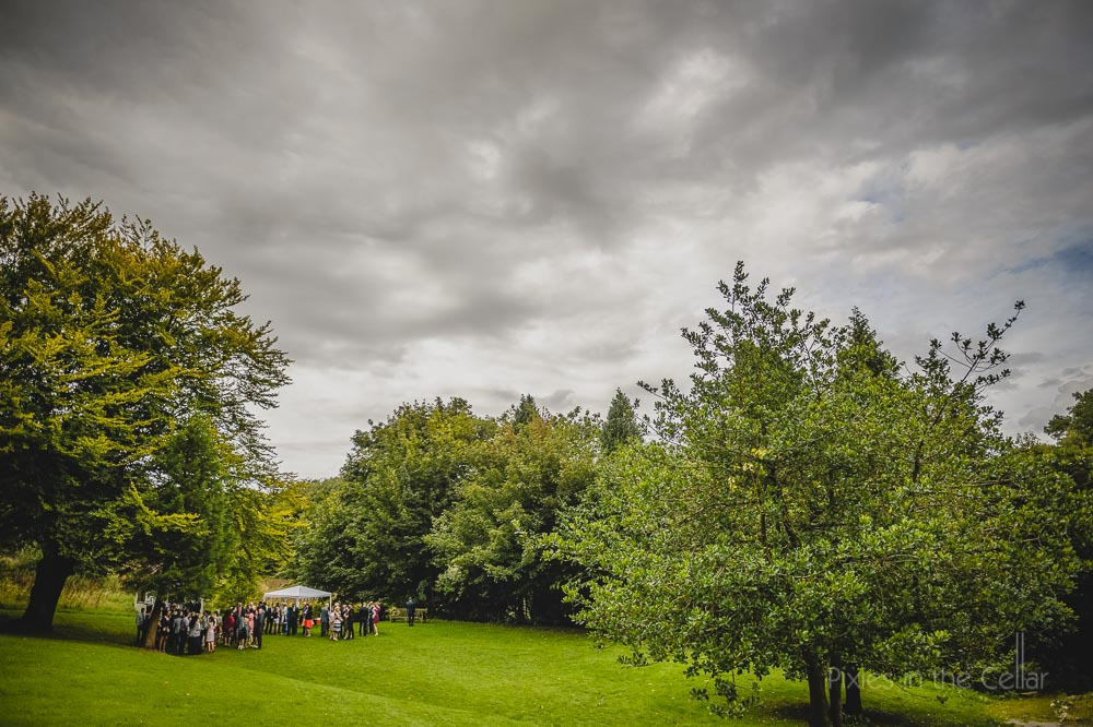outdoor summer ceremony hargate hall