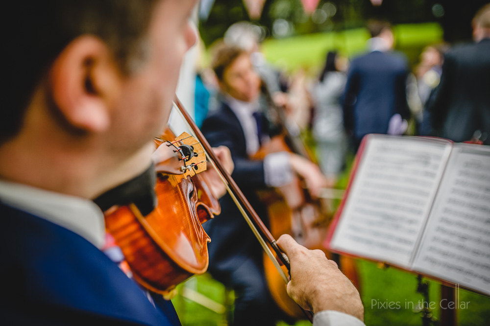 violinist summer wedding