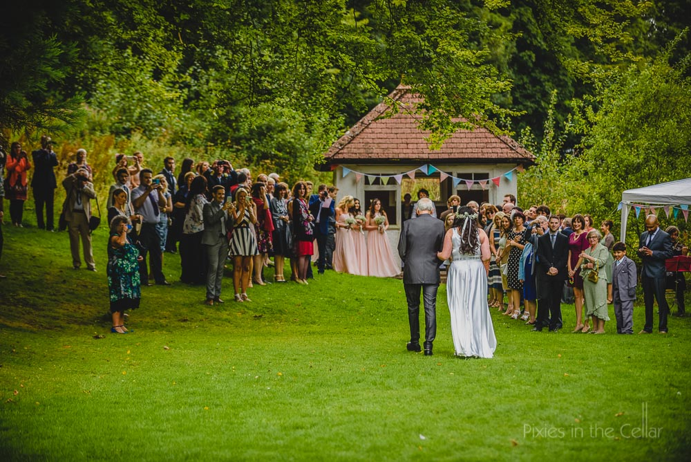 hargate hall outdoor ceremony peak district