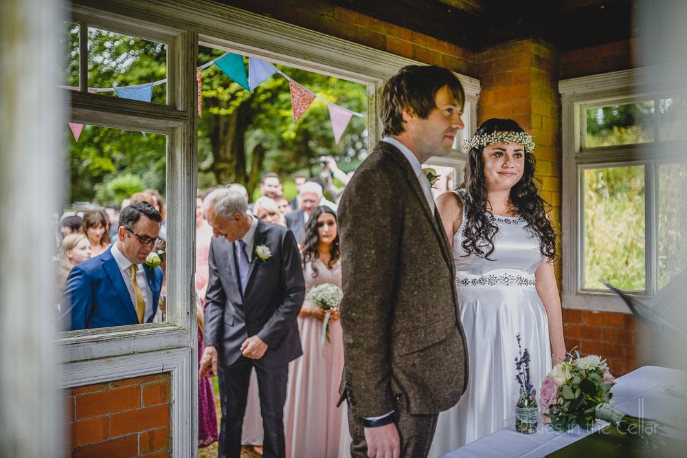summer house wedding ceremony derbyshire