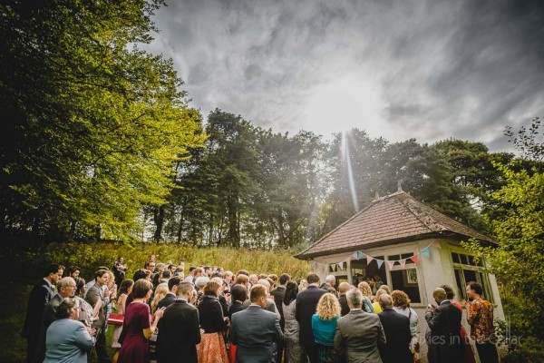 Hargate Hall Wedding Photography Outdoor ceremony