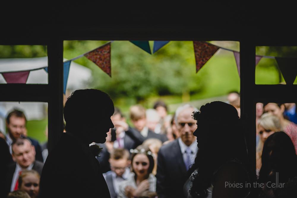 outdoor boho wedding ceremony