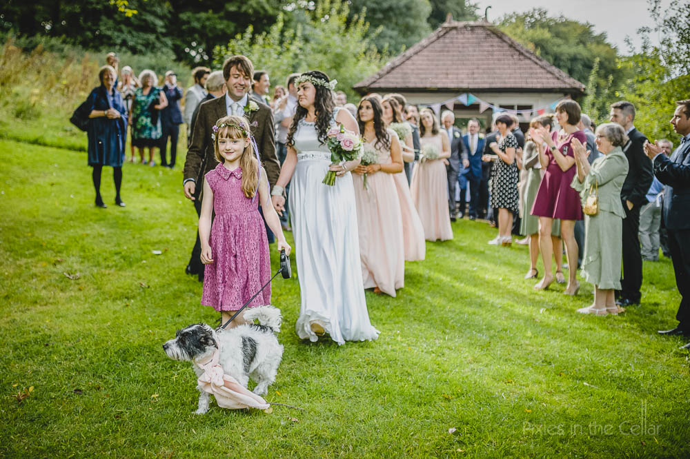 Outdoor wedding hargate hall