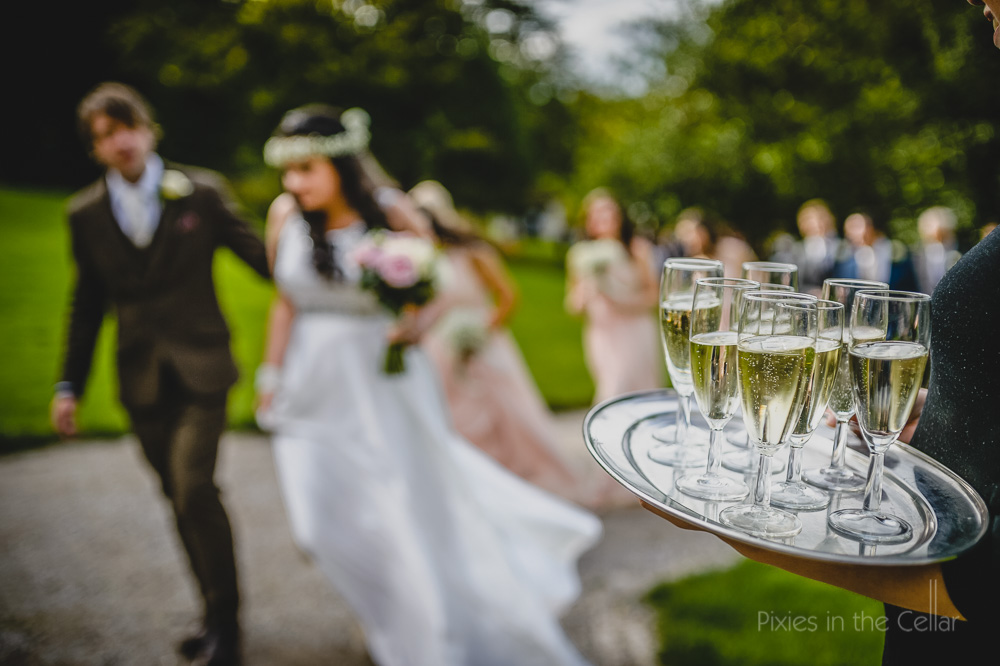 hargate hall wedding photography champagne