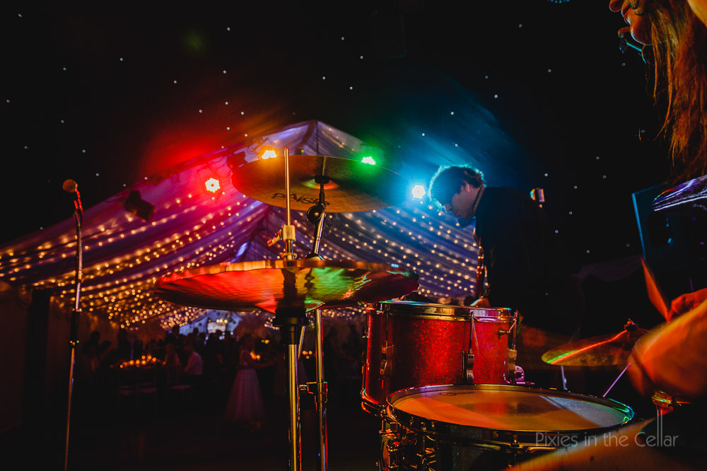 cymbals drum kit fairy lights