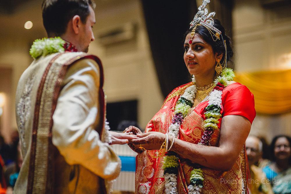 exchange of rings Asian wedding