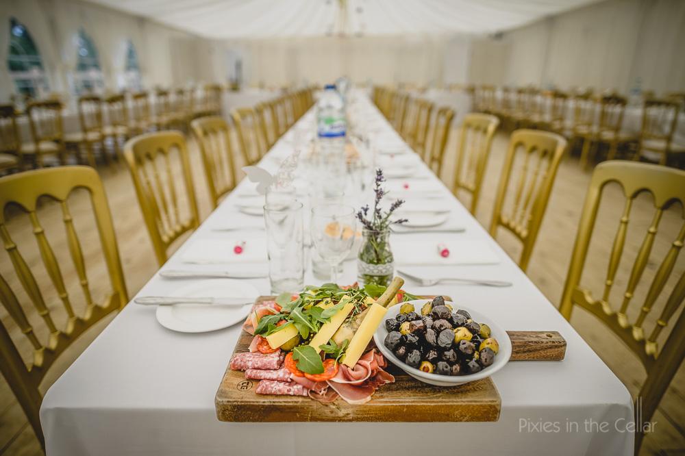 Antipasti wedding starter platter