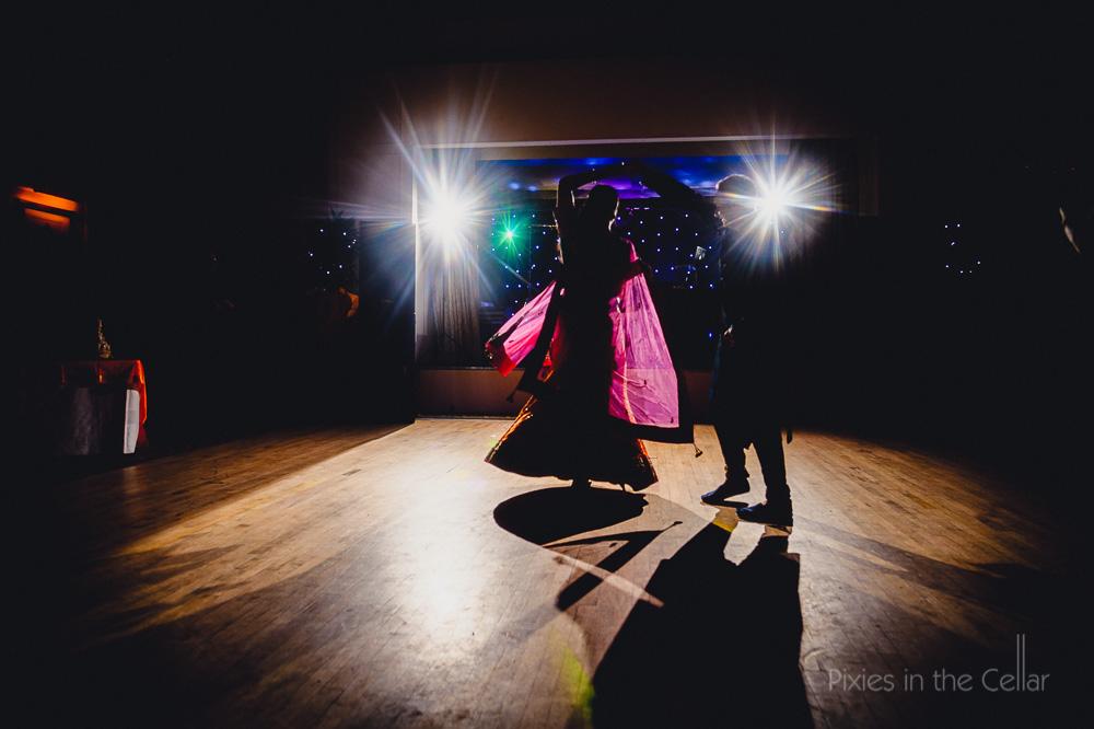 sari in first dance