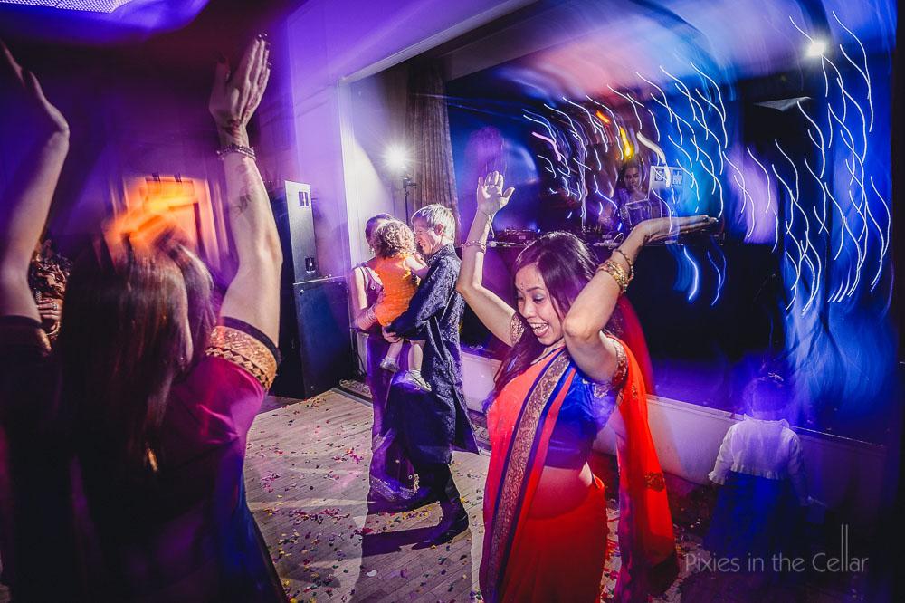 Indian wedding disco photo