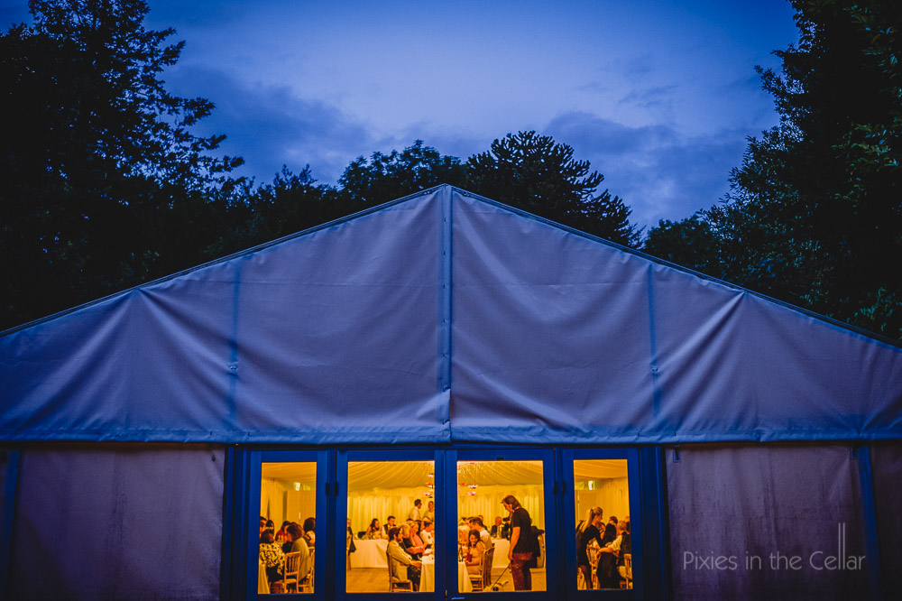 early evening marquee hargate hall