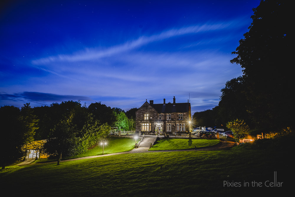 Hargate Hall wedding photography at night