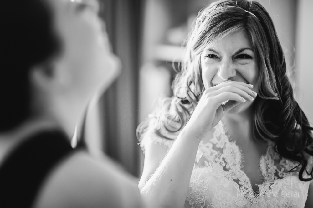 wood hall hotel wedding photography bride laughing