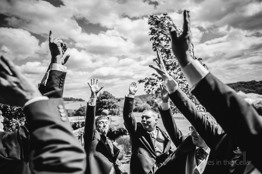 groomsmen hands