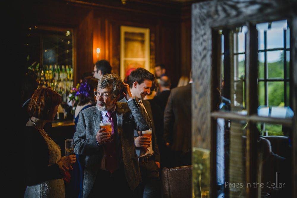 wedding reception drinks at wood hall hotel and spa, wetherby yorkshire