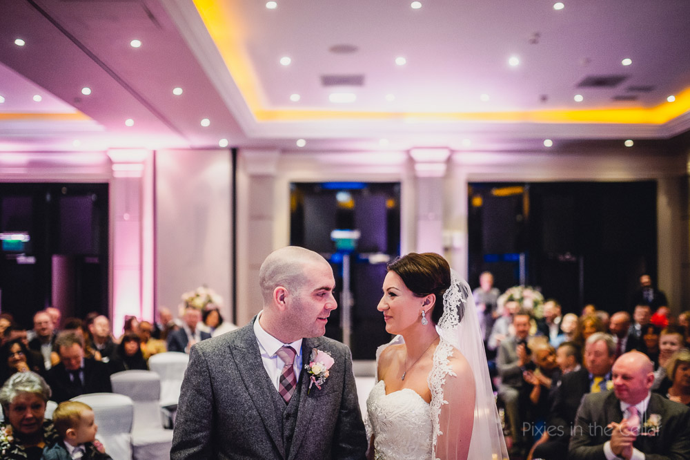 radisson blu edwardian winter wedding ceremony