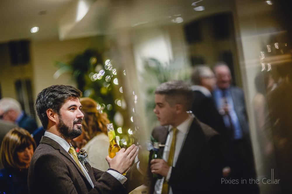 wedding drinks reception indoors winter