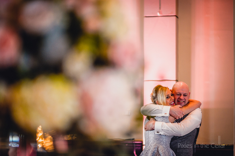 hug at wedding