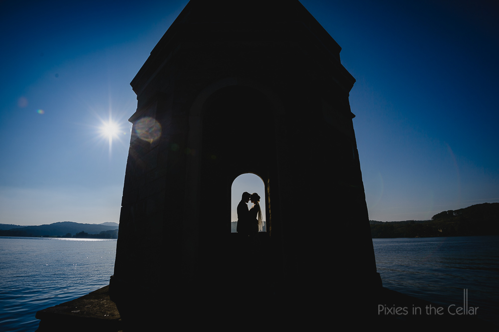 storrs hall temple wedding photograph silhouette
