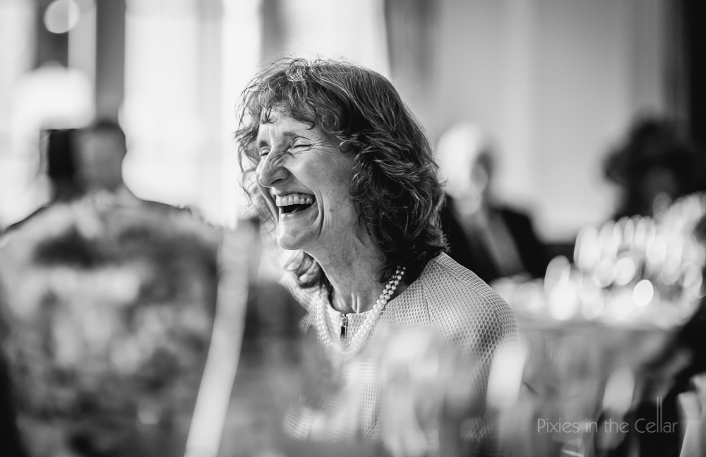 laughing mother of bride