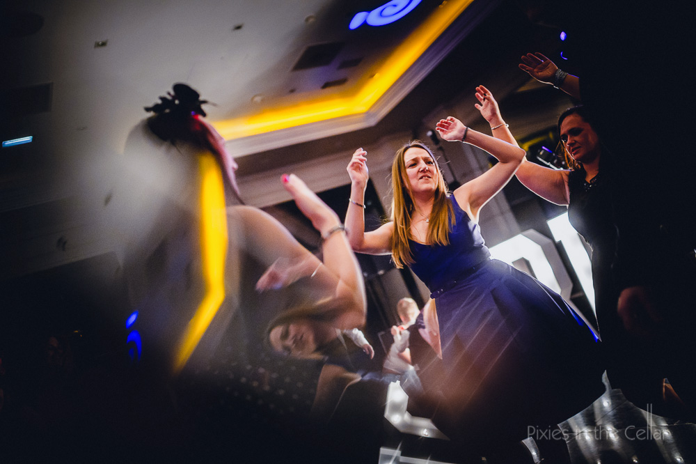 girl blue dress dancing