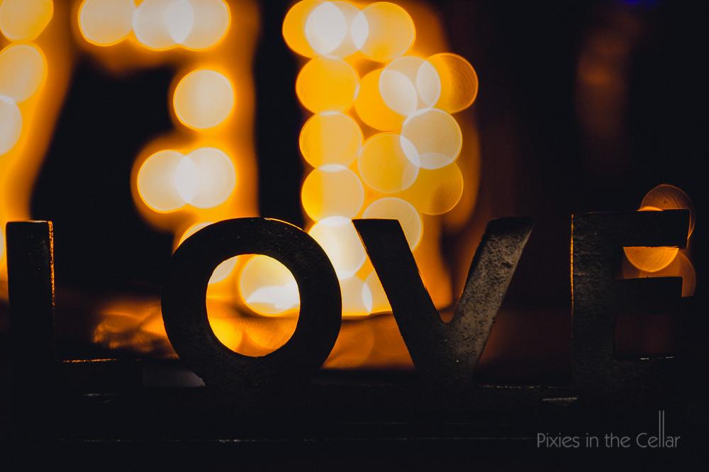 metal love sign