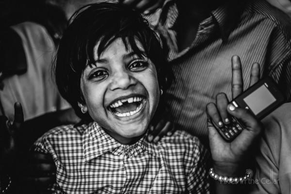Indian girl happy