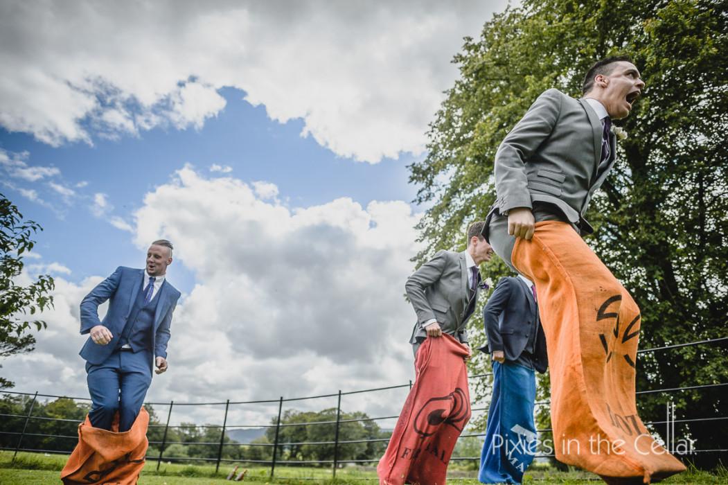 wedding sack race