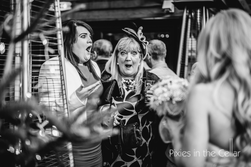shocked wedding guests