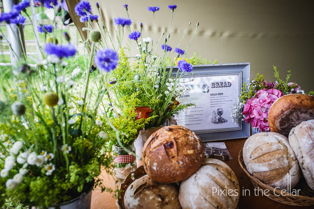 bread and wildflowers wedding