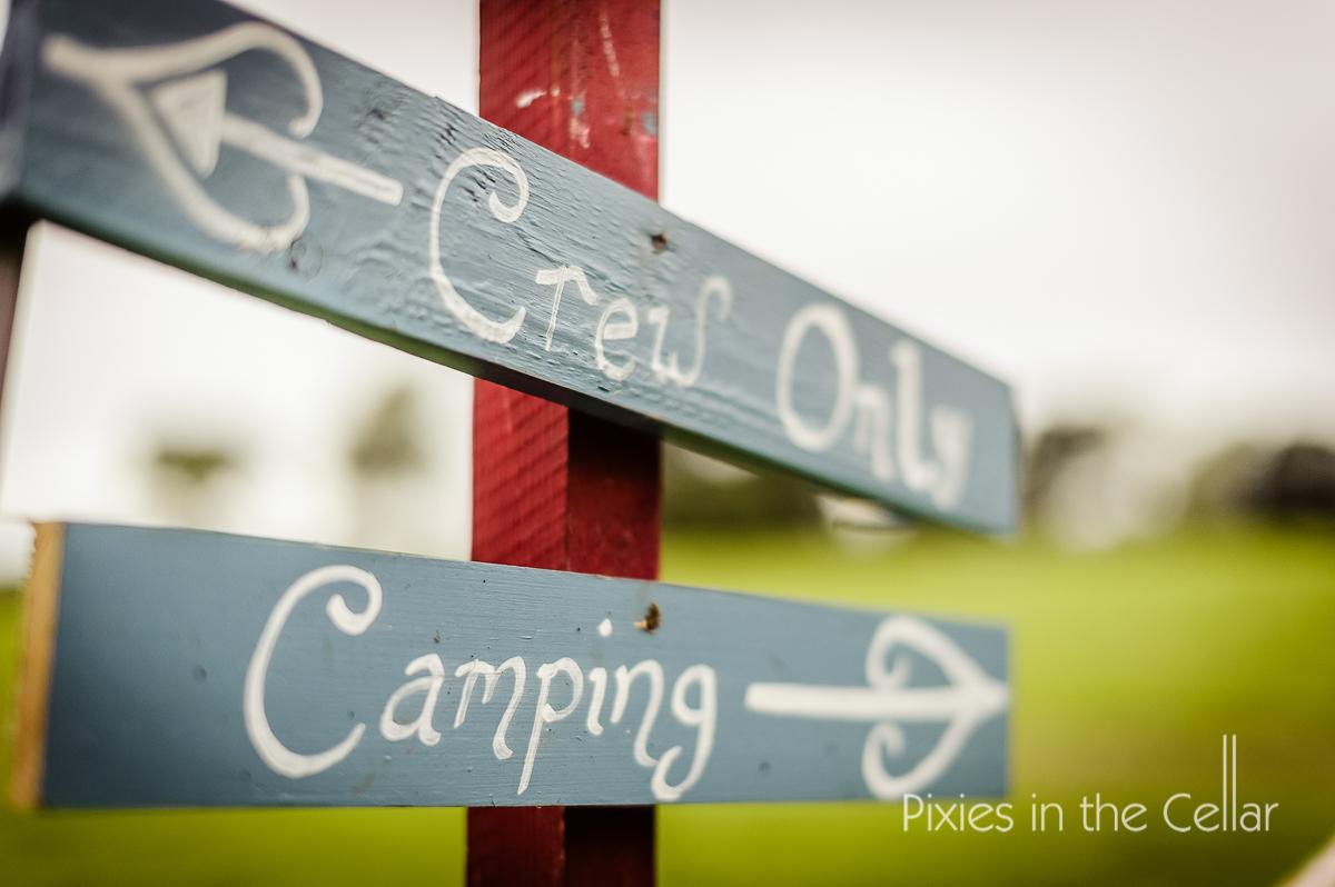 camping festival wedding sign