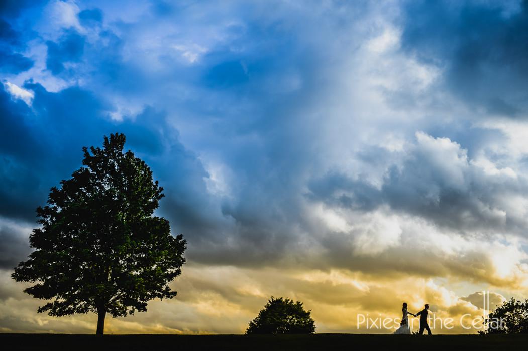 bride groom walking