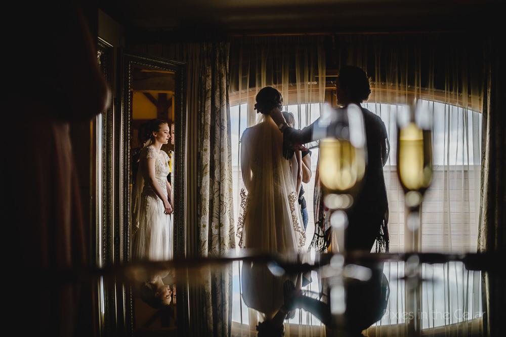 bridal prep mythe barn wedding