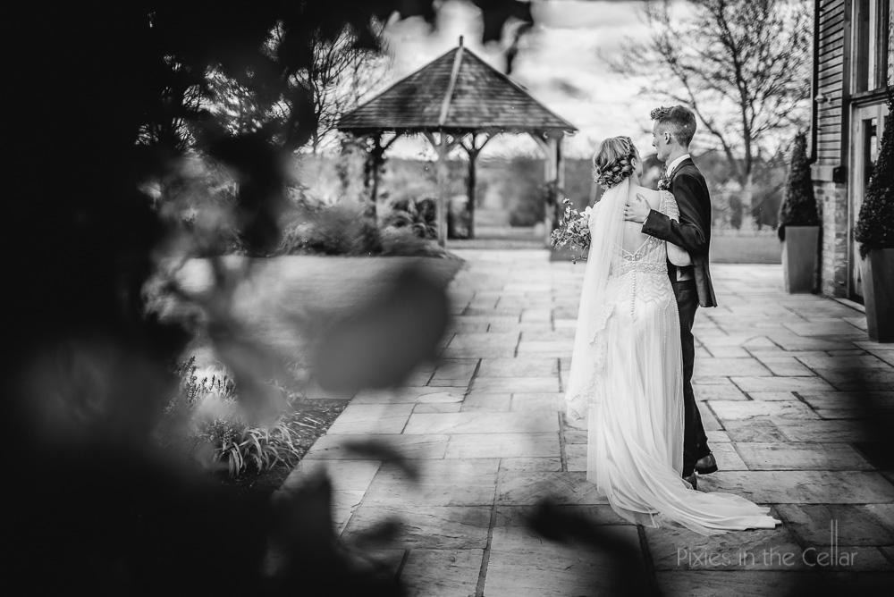 bride groom moment together