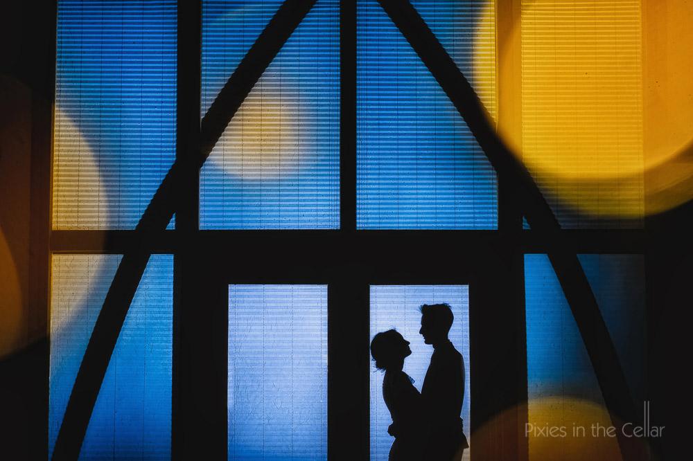 Mythe Barn wedding photography silhouette