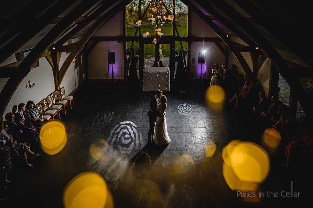 Midlands barn wedding first dance
